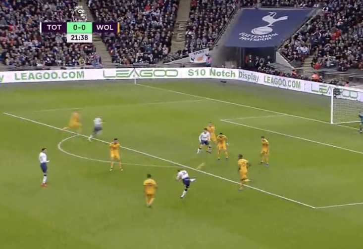 Harry Kane struck this beauty against Wolves