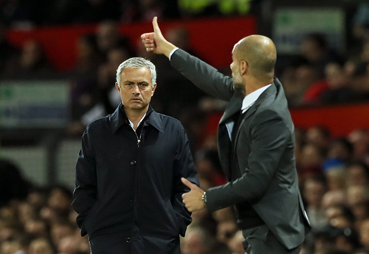 Jose Mourinho and Pep Guardiola will go head-to-head once again this weekend