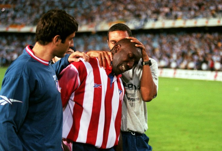 Jimmy Floyd Hasselbaink after being relegated with Atlético Madrid.