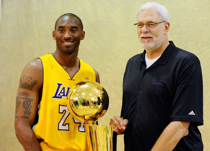 Jackson with the late, great Kobe Bryant