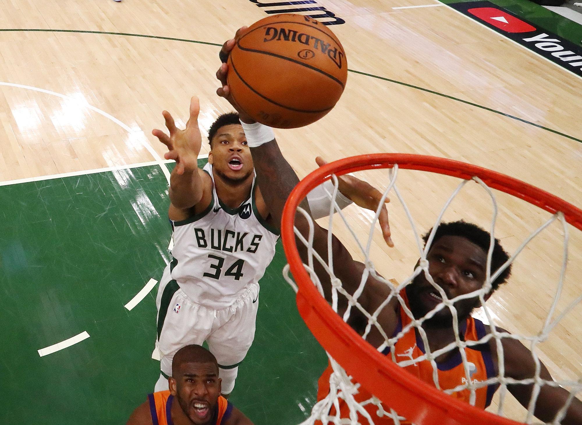 Giannis Antetokounmpo's Incredible Block Helps Bucks Tie Up NBA Finals - The Sportsman