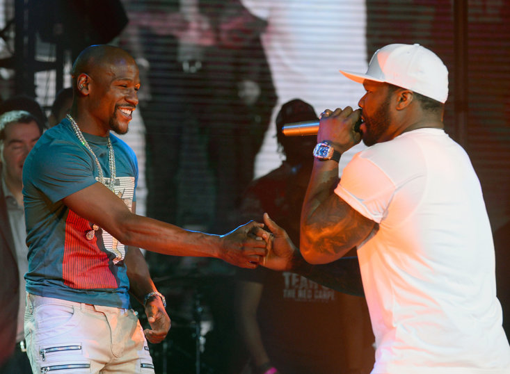 Boxer Floyd Mayweather and Rapper 50 Cent