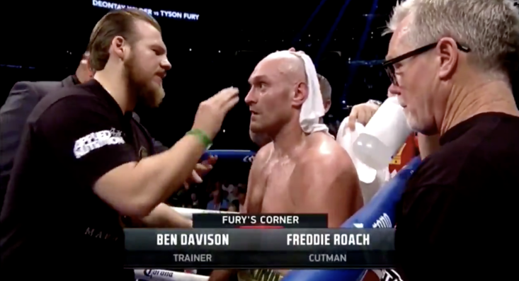 Tyson Fury's prayer moments before heavyweight title clash