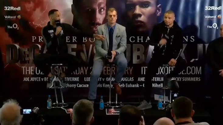 DeGale And Eubank Jr (and Sr) Clash In Final Press Conference