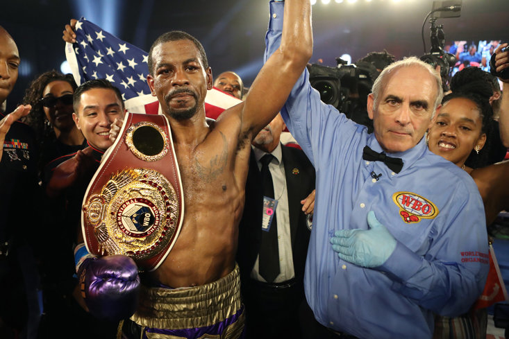 Former US Marine Jamel Herring will provide Frampton with a stern test
