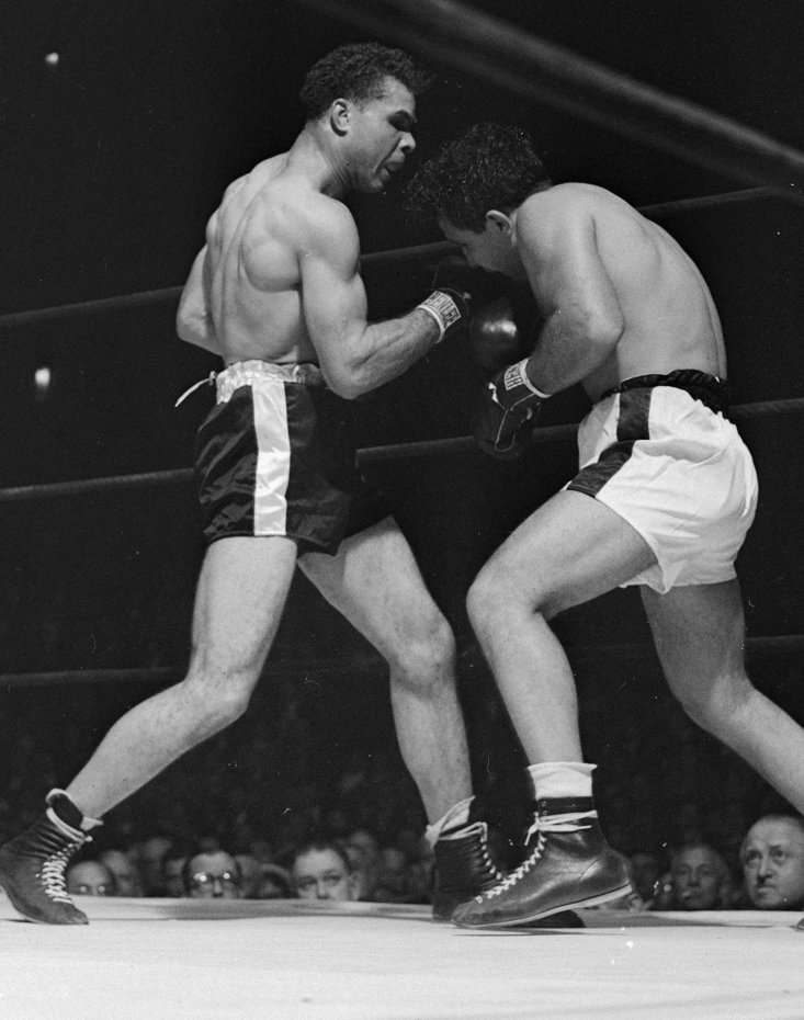 Jake LaMotta's 1947 fixed bout with Billy Fox (Getty Images)