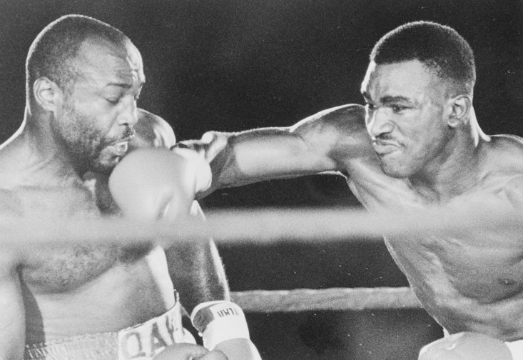 Qawi takes one on the chin from Holyfield (Getty Images)