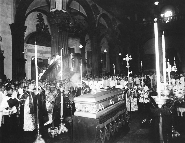 The funeral of Pancho Villa in 1924