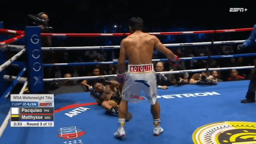 Manny Pacquiao TKOs Lucas Matthysse to capture WBA title
