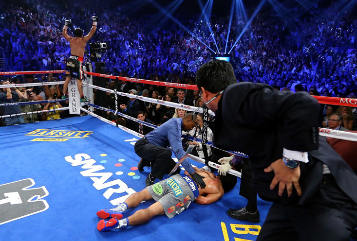 The image of Pacquiao's unconscious body during his fourth fight with Marquez is one of the decade's most iconic