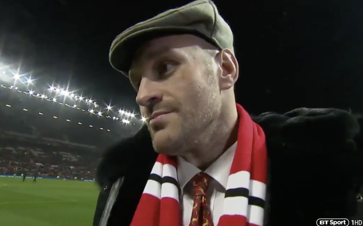 Fury was at Old Trafford last night