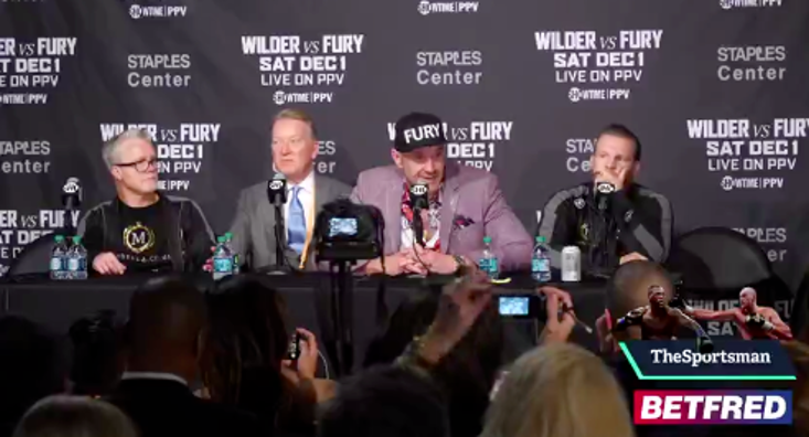 Tyson Fury would love to fight Deontay Wilder in Manchester