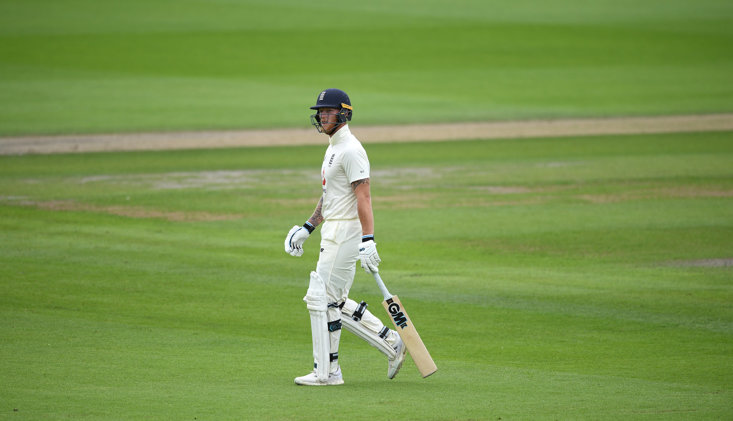 BEN STOKES WAS UNDONE BY AN UNPLAYABLE DELIVERY IN THE FIRST INNINGS