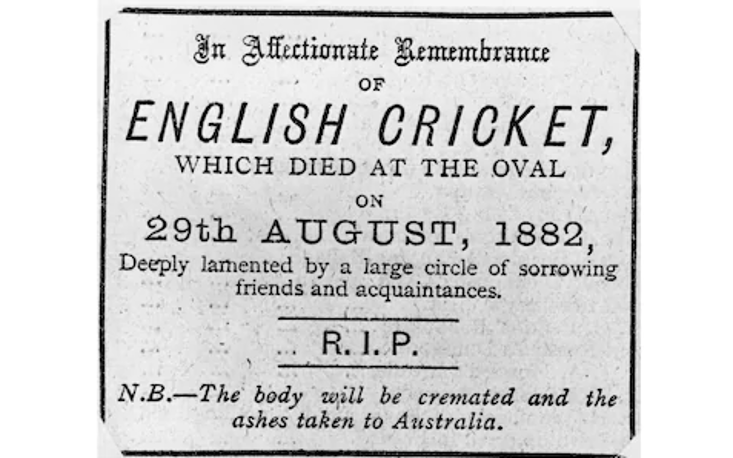 The famous, or infamous, mock obituary from the Sporting Times