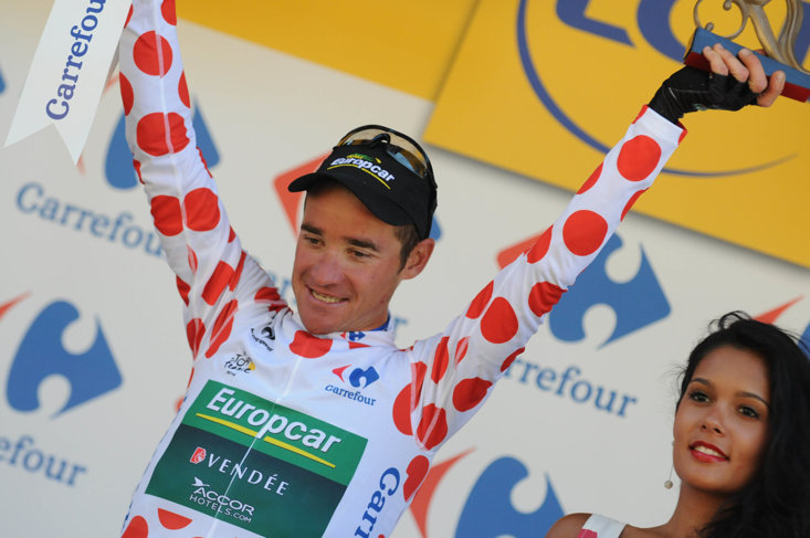 Voeckler was crowned King of the Mountains at the 2012 Tour de France