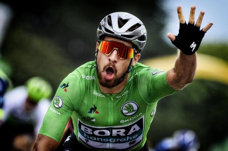 Peter Sagan Celebrates Winning Stage 13