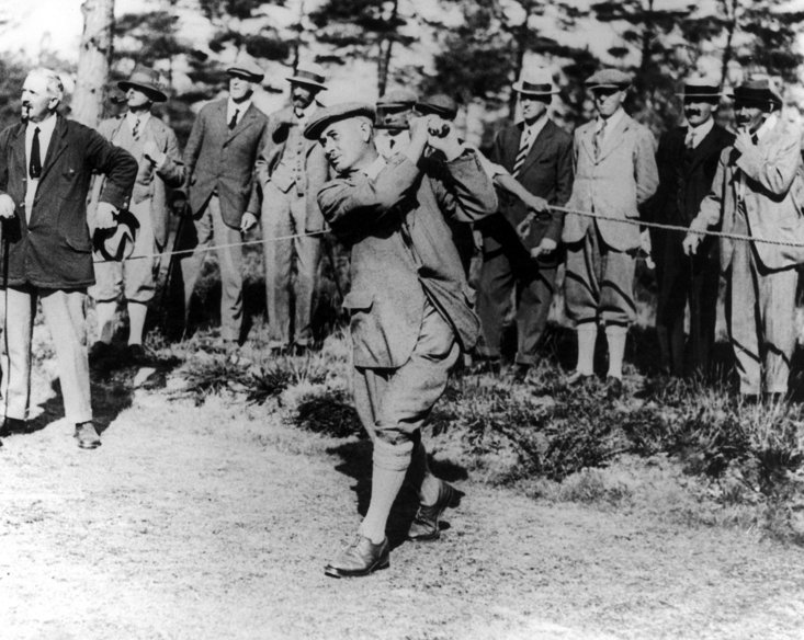 Harry Vardon competing in 1920