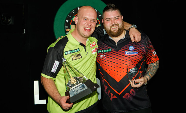 Michael van Gerwen beat Michael Smith in the Premier League final last year