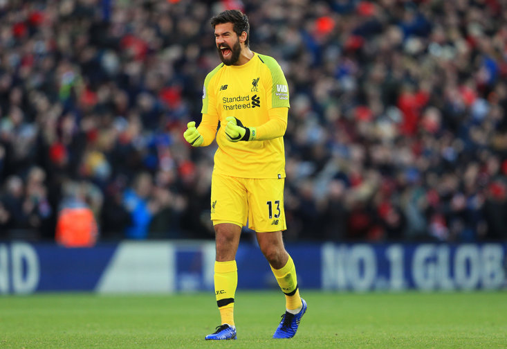 Alisson is in line to break an 11-year Liverpool record today