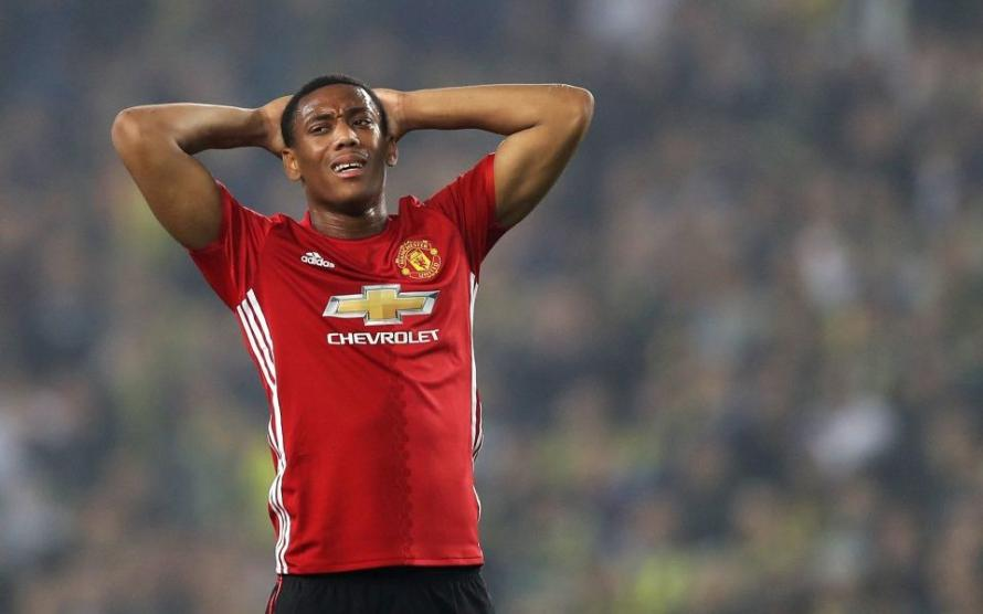 Anthony Martial has been sidelined through injury.