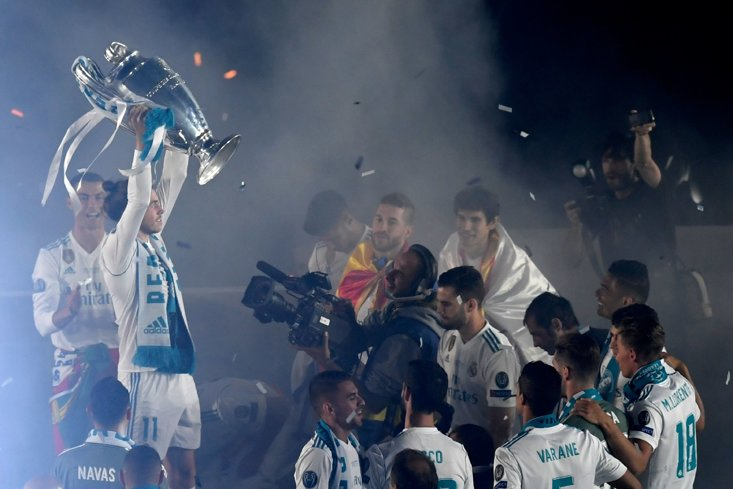 Bale has been a part of four Real Madrid Champions League triumphs