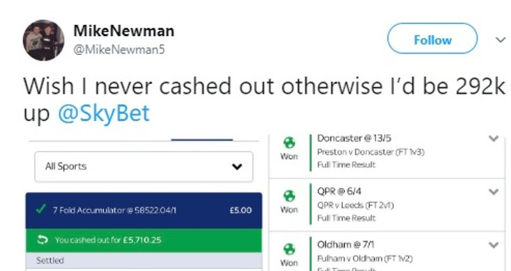 Fa cup betting odds winnings avb replacement betting line