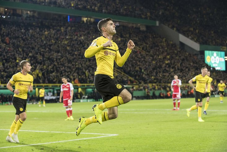 Christian Pulisic is being linked with a move to the Premier League next year