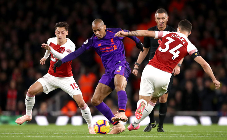 Fabinho made only his second Premier League start for Liverpool