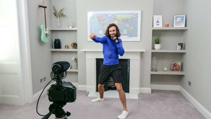 JOE WICKS' LOCKDOWN WORKOUTS SWEPT THE NATION DURING LOCKDOWN