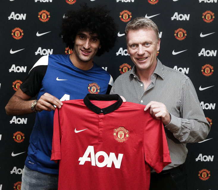 One of Moyes' only signings at Old Trafford, Maraoune Fellaini