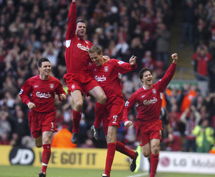 Carragher back in his liverpool playing days