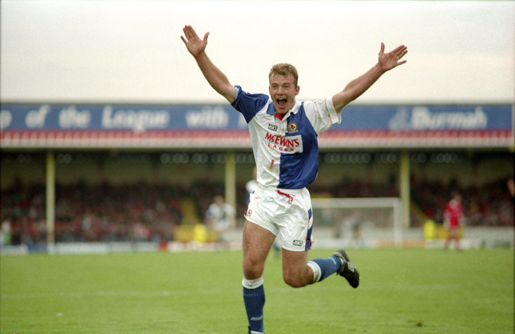 Shearer spent four years with Blackburn Rovers, scoring 112 times
