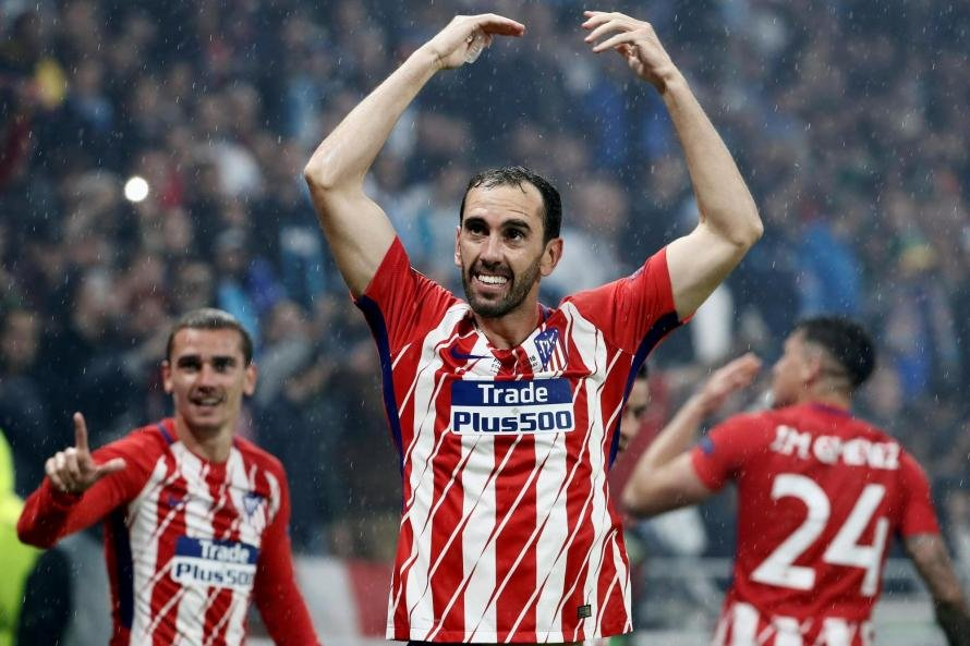 Diego Godin has been at Atletico Madrid since 2010