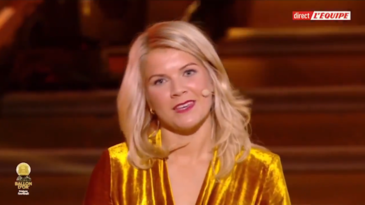 Hegerberg was picking up the inaugral women's Ballon d'Or