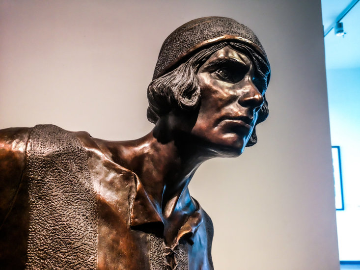 The new statue of Lily Parr which was unveiled in Manchester this week