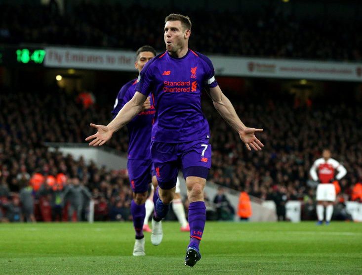 James Milner now has 50 Premier League goals to his name