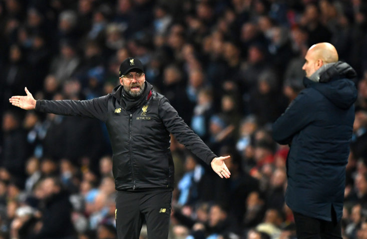 Man City must push Liverpool to the end title not important - Guardiola