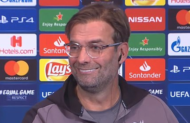 Jurgen Klopp was at his entertaining best during the PSG press conference