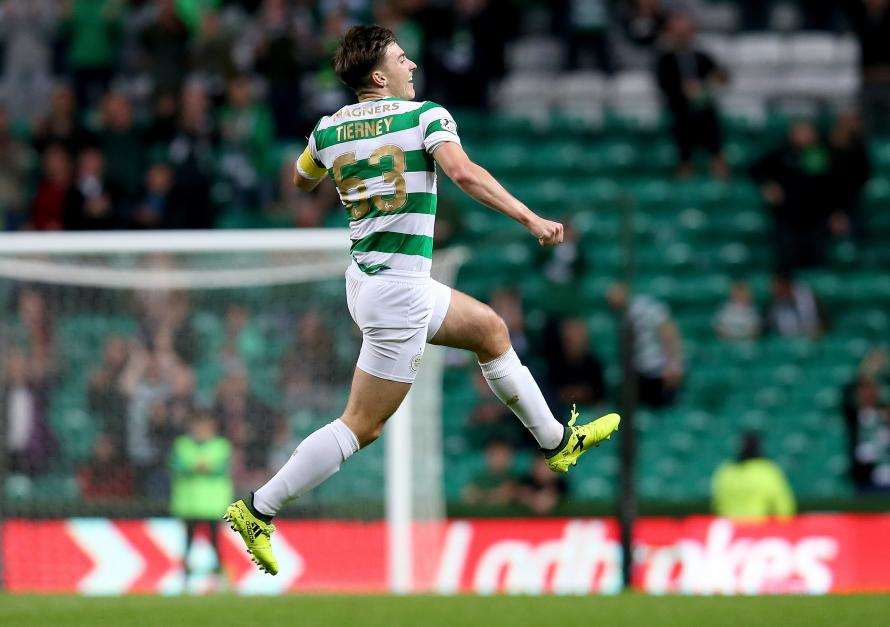 Kieran Tierney is a major doubt for Celtic's clash with Rangers next Sunday