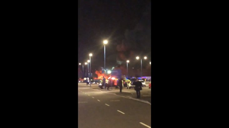 Helicopter crashes in Leicester City vehicle park