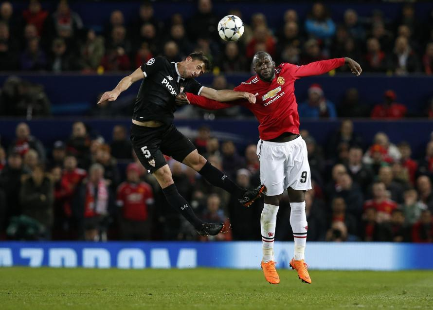 Clément Lenglet tussled with Utd striker Romelu Lukaku in the Europa League last season