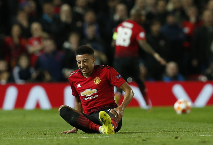 Jesse Lingard went down in pain