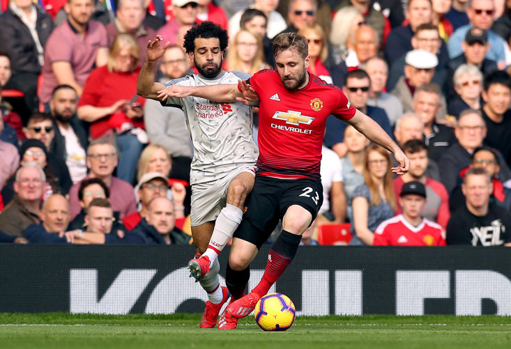 Luke Shaw won his battle with Mo Salah