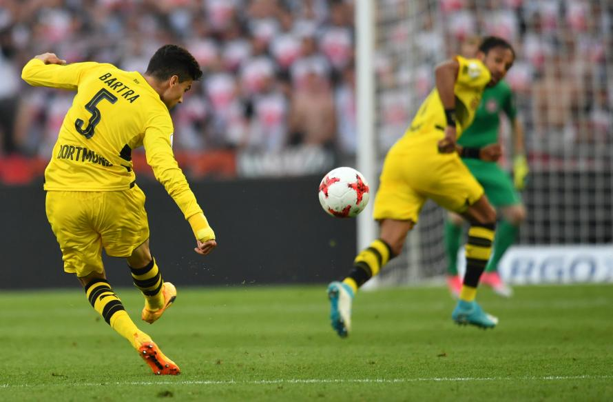 Bartra returned to action before the end of the season and helped Dortmund to win the German DFB Cup final