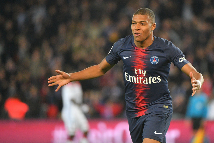 Mbappe was dropped to the bench this weekend, but that didn't stop him scoring