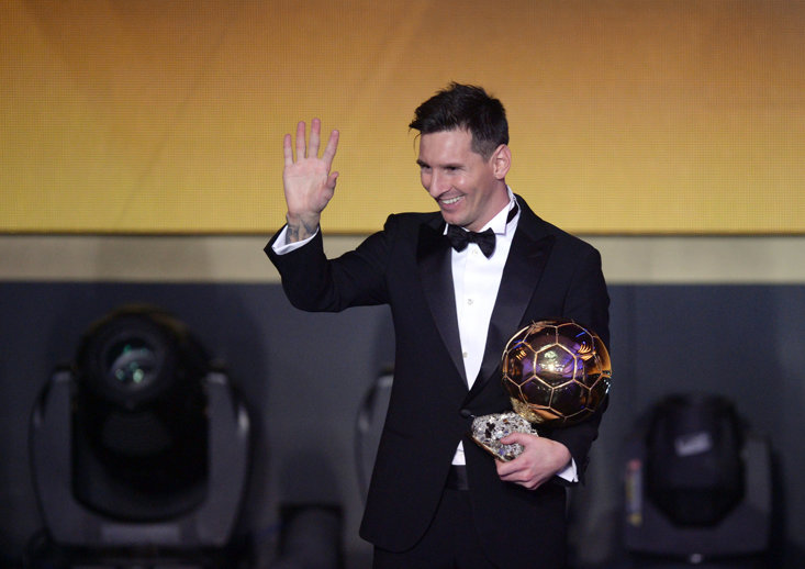 Messi has picked up five Ballon d'Ors