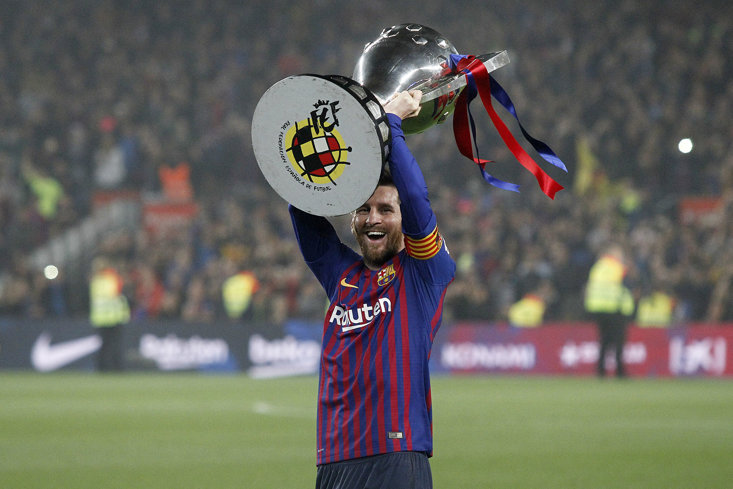 Messi picked up his tenth title