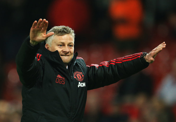 Ole Gunnar Solskjaer has enjoyed a 73.7% win rate to far