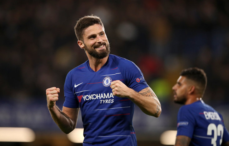 Olivier Giroud is out of contract in the summer