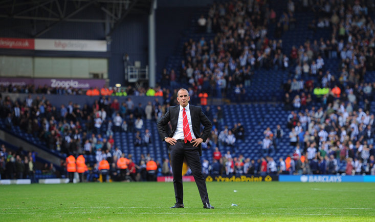 Paolo Di Canio cut a lone figure in what proved to be his final match in charge